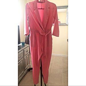 Boohoo Pink Long sleeve Jumpsuit